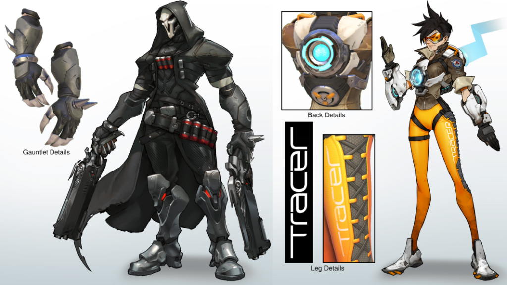 Offical art from the Blizzard Character Reference Kits.